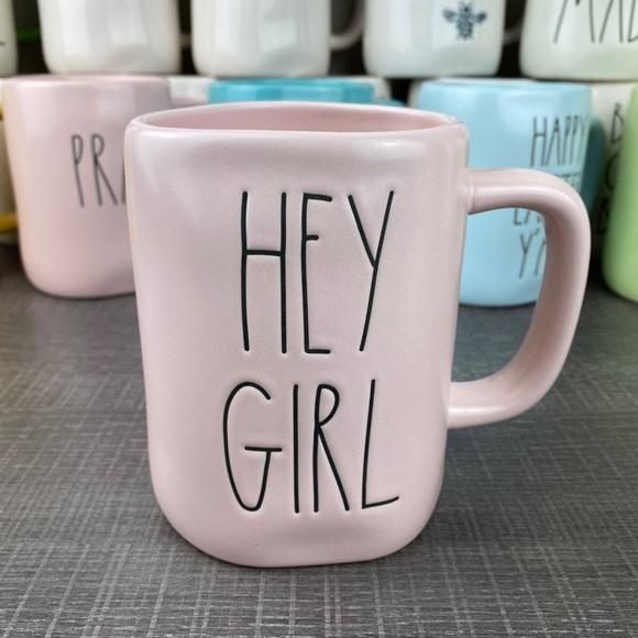Rae Dunn pink Hey Girl mug. New,